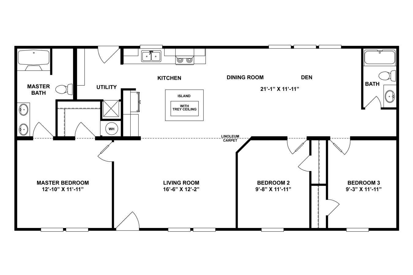 double wide mobile home plumbing diagram