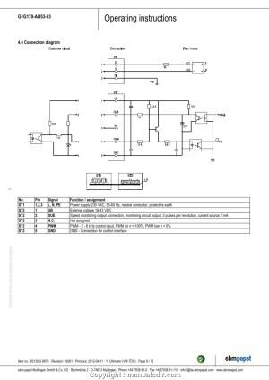 Ebm Papst Motor Wiring Diagram | Free Wiring Diagram