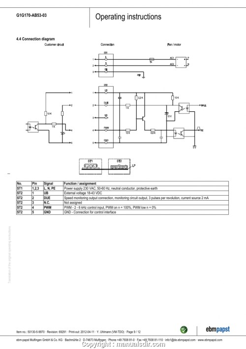 small resolution of ebm papst motor wiring diagram