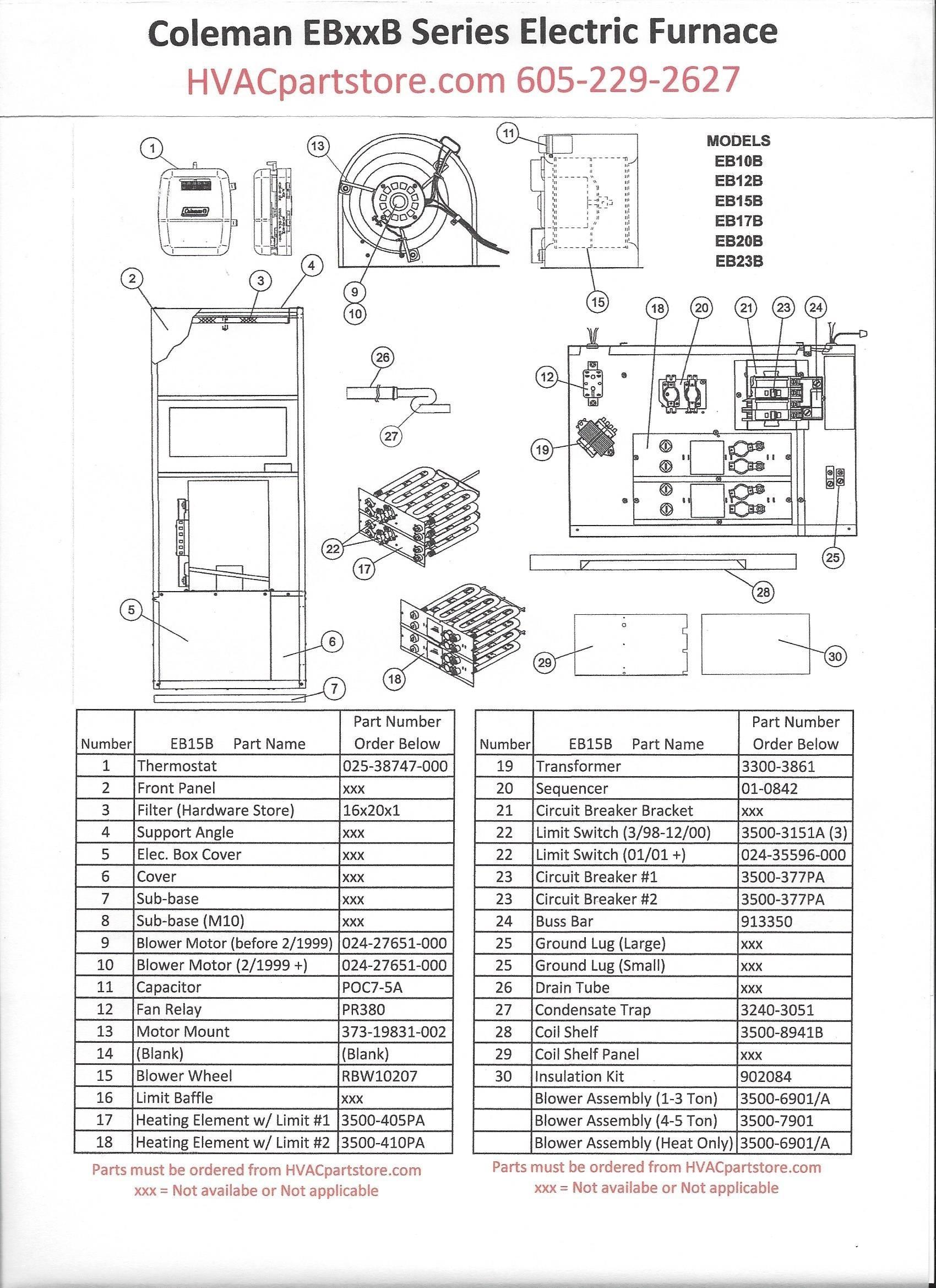 Electric Heat Furnace Wiring Diagram