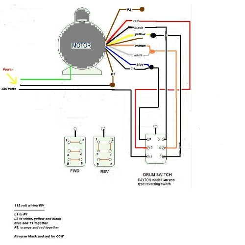 small resolution of electric motor wiring diagram 110 to 220 free wiring diagram 115 volt wiring diagrams
