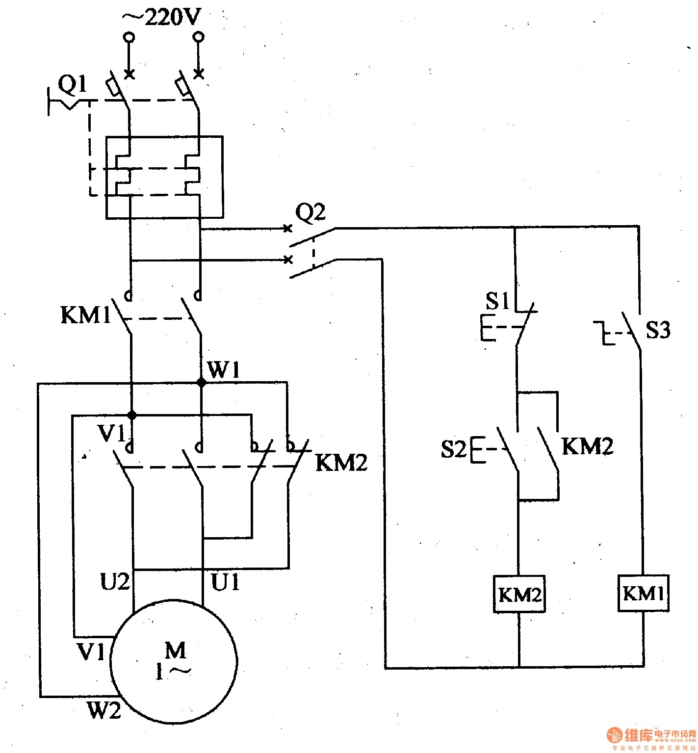 Motor Reversing Switch Wiring Diagram