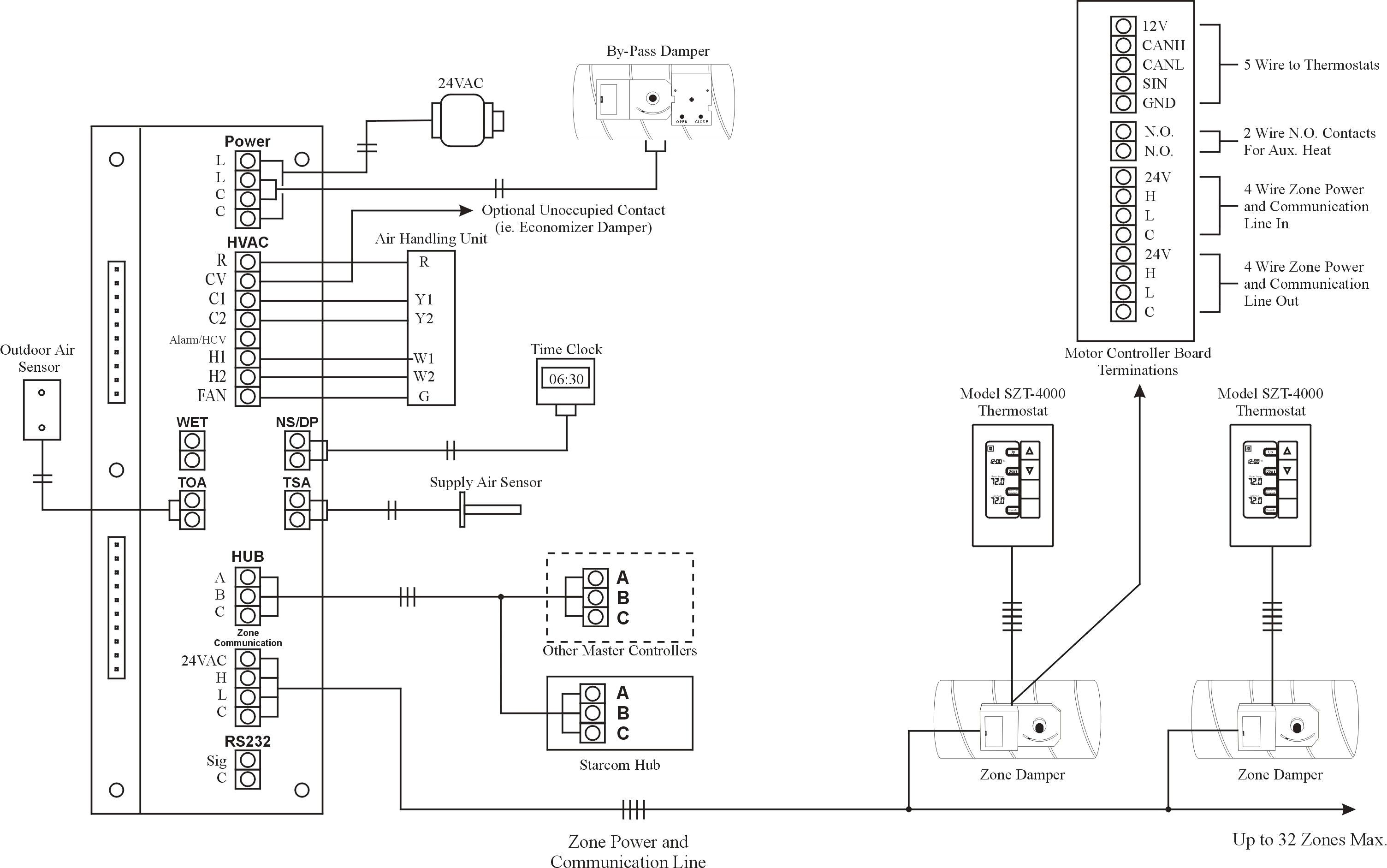 addressable smoke detector circuit diagram