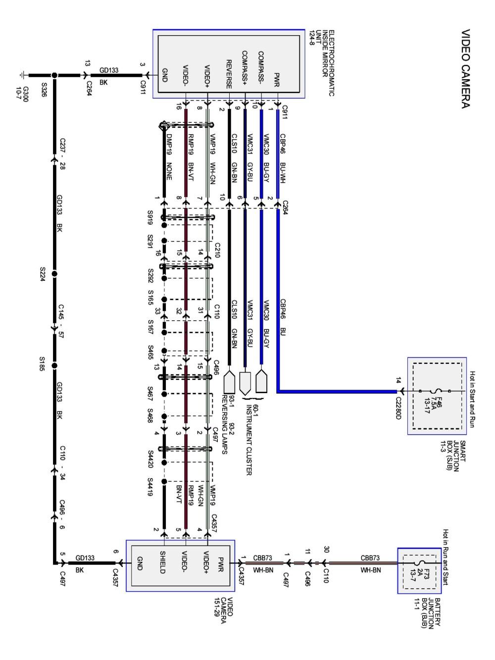 medium resolution of wiring backup camera f250 wiring diagram today rear view camera circuit diagram wiring diagrams konsult wiring