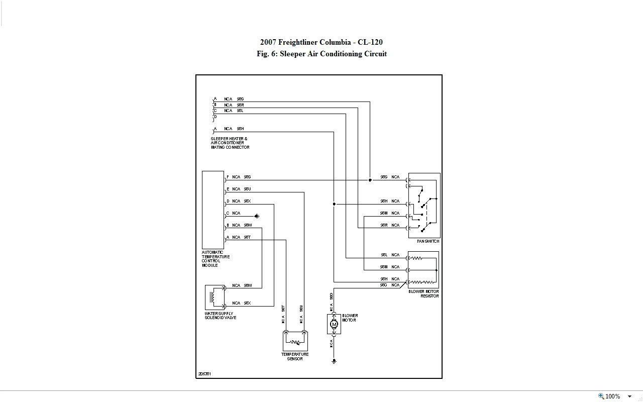 freightliner headlight circuit diagram