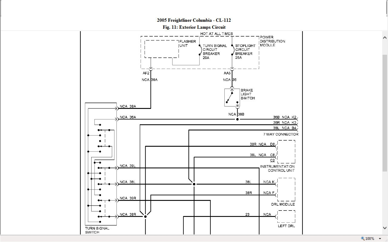 hight resolution of freightliner columbia wiring schematic i have a 2005 freightliner columbia and the tail marker lights