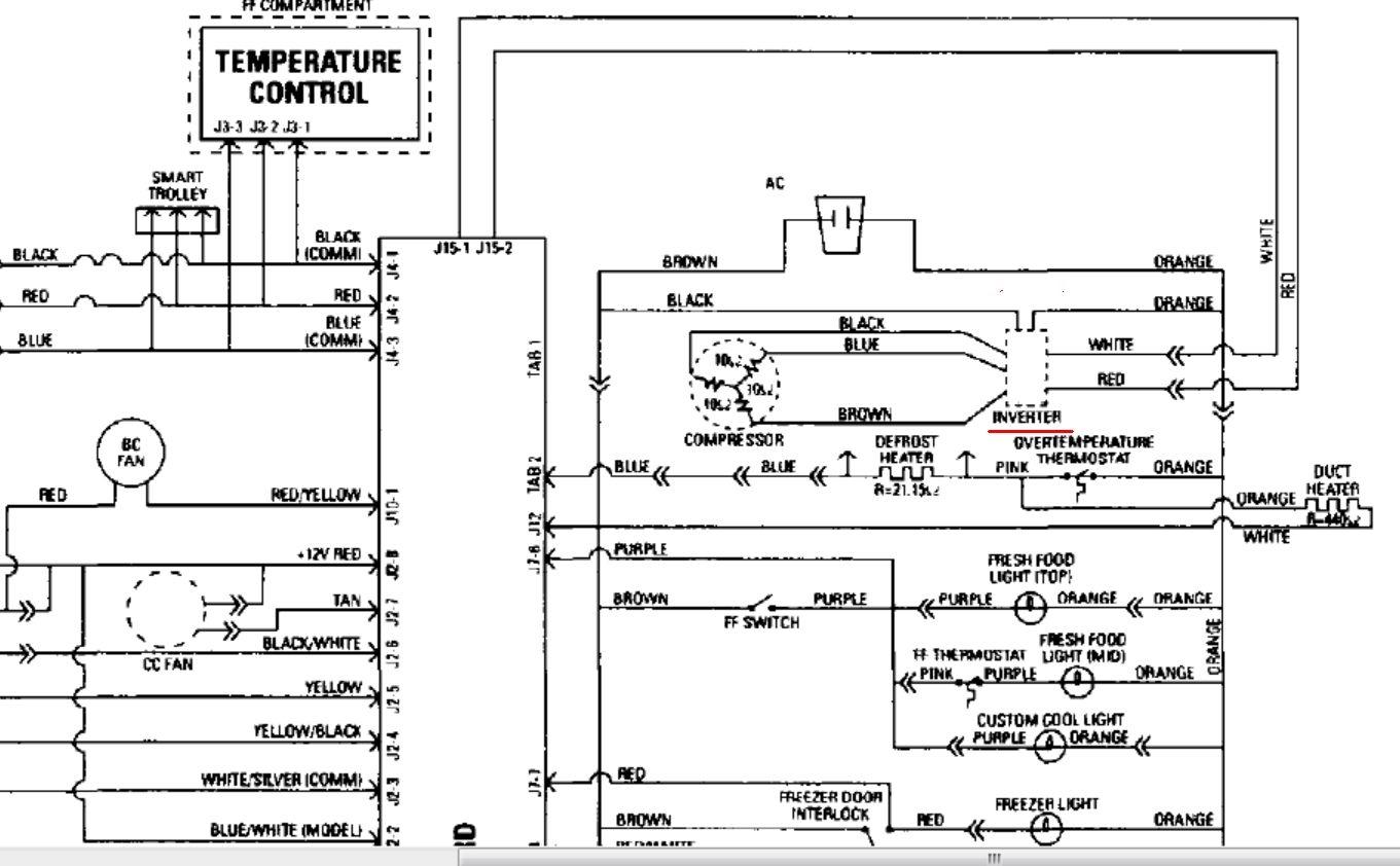 ge profile refrigerator wire diagram