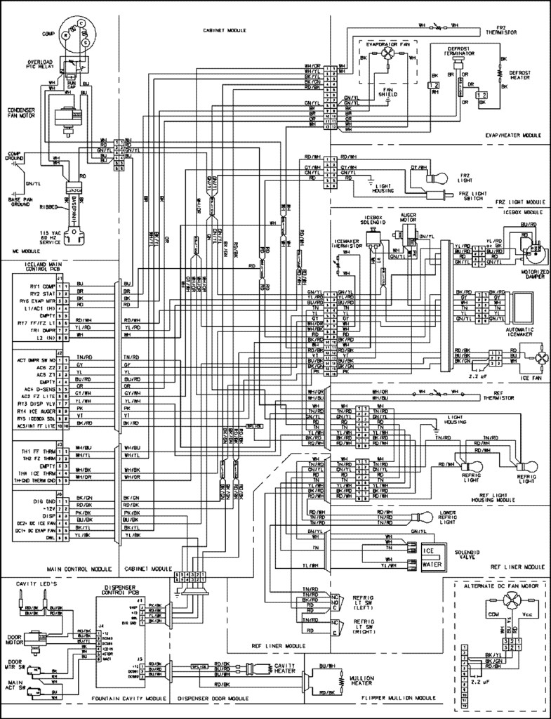 ge profile refrigerator ice maker diagram on wiring diagram ge