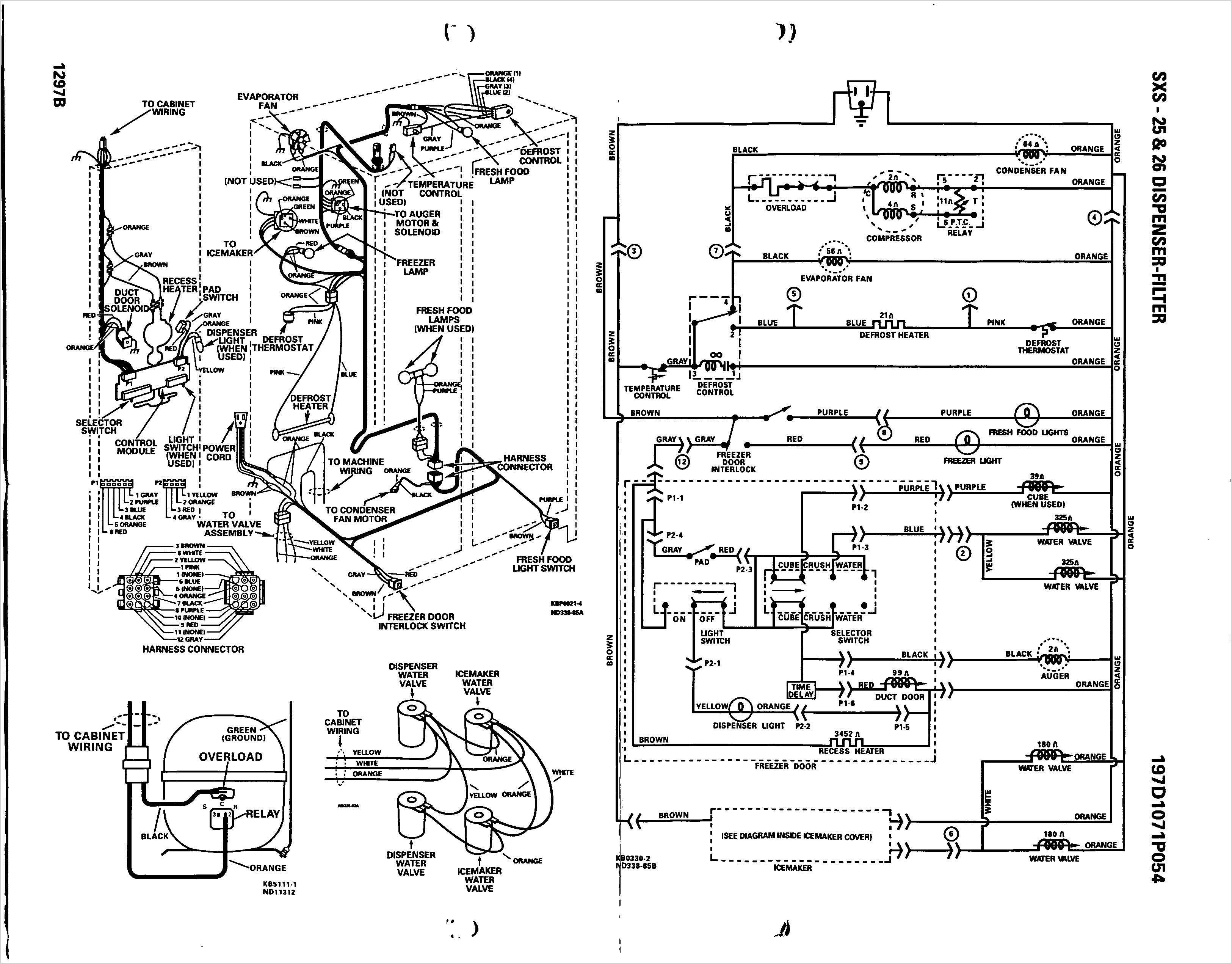 electrical wiring diagram ge refrigerator