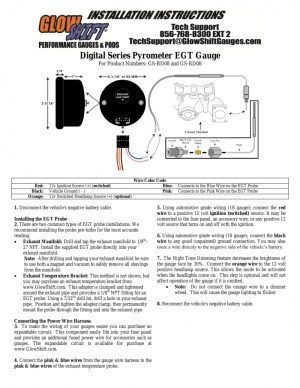 Glowshift Boost Gauge Wiring Diagram | Free Wiring Diagram