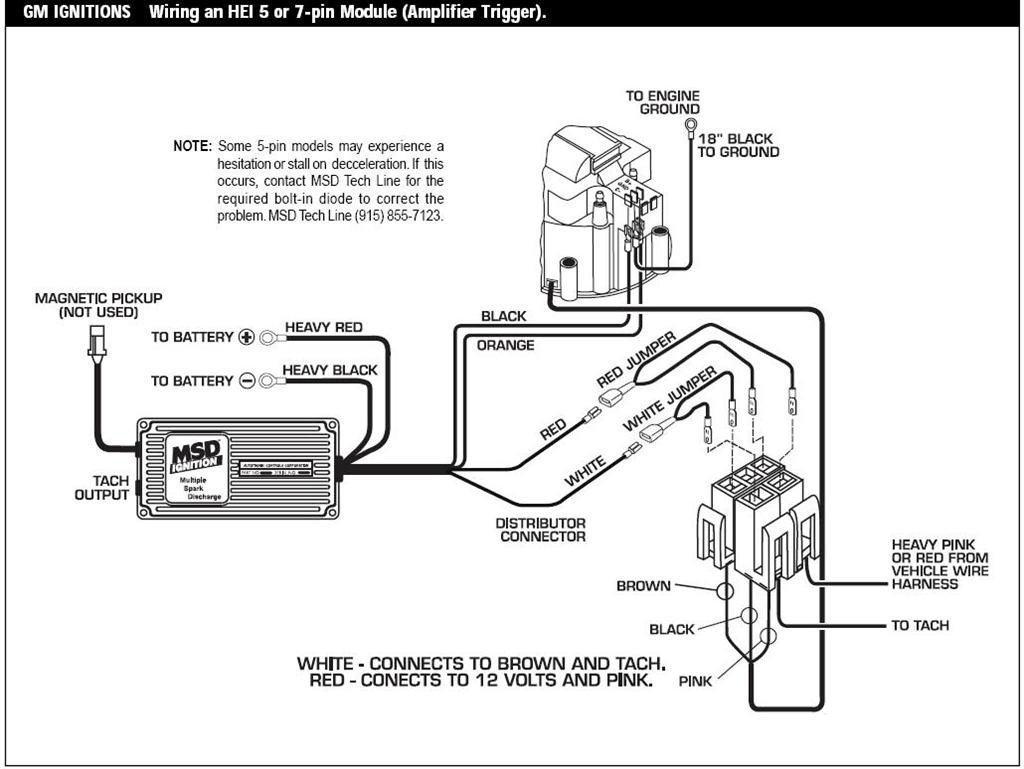 msd 6al wiring diagram hei 2002 pontiac grand prix ignition switch gm distributor schematic free