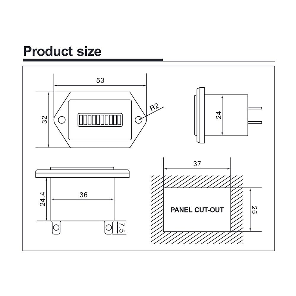 hight resolution of golf cart battery meter wiring diagram
