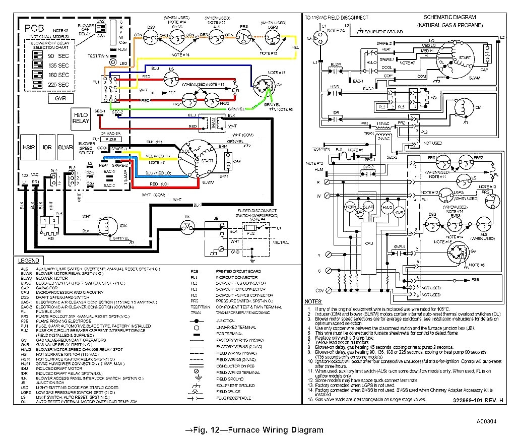 goodman furnace circuit board schematic