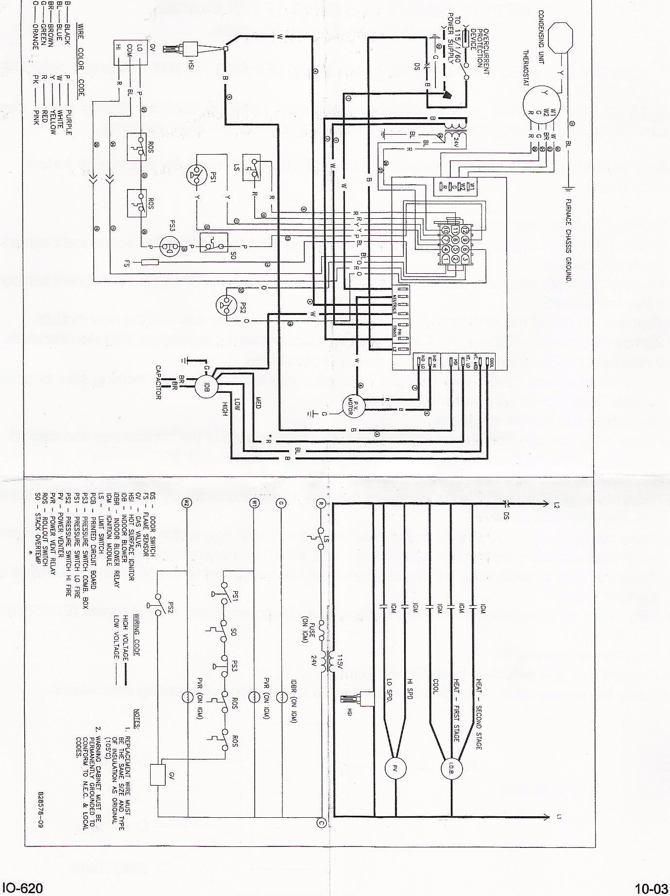 Janitrol Furnace Thermostat Wiring Diagram