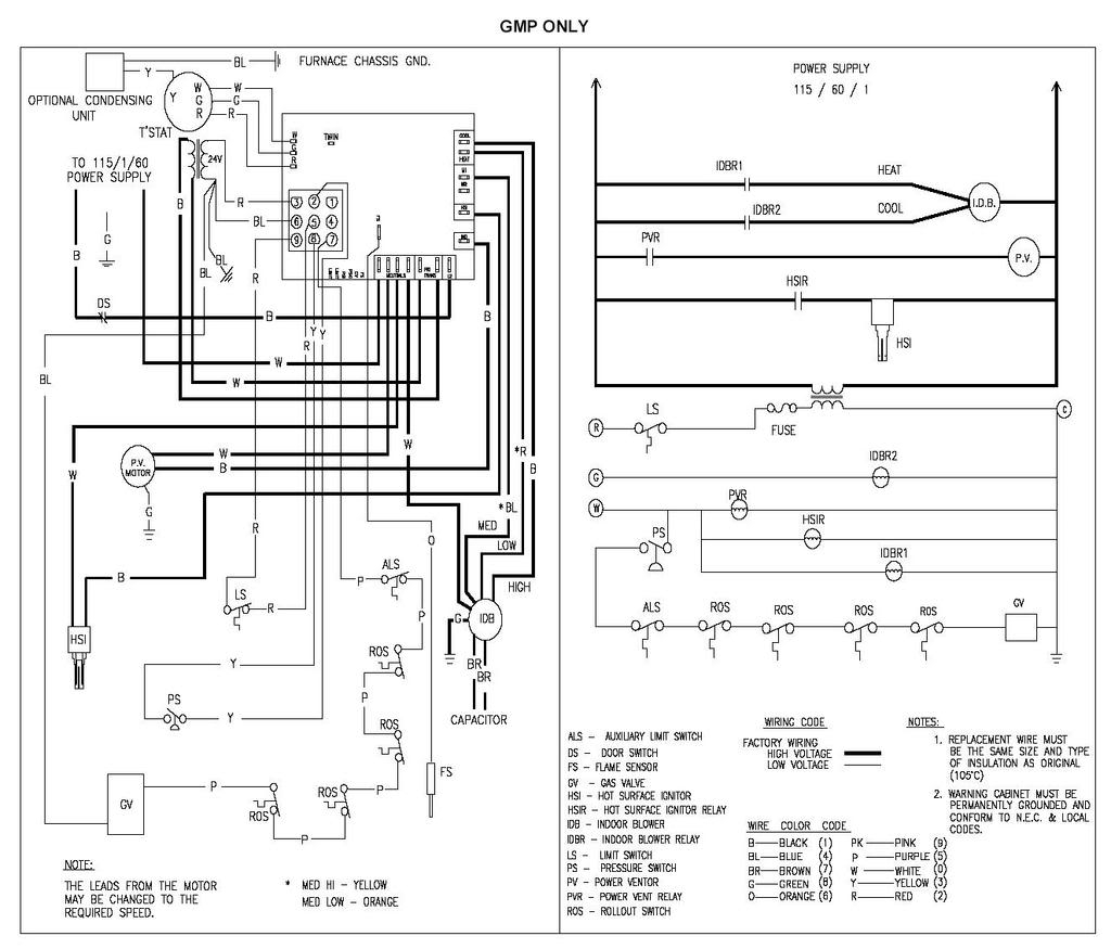 goodman electric heat wiring diagram dynisco pressure transducer furnace free