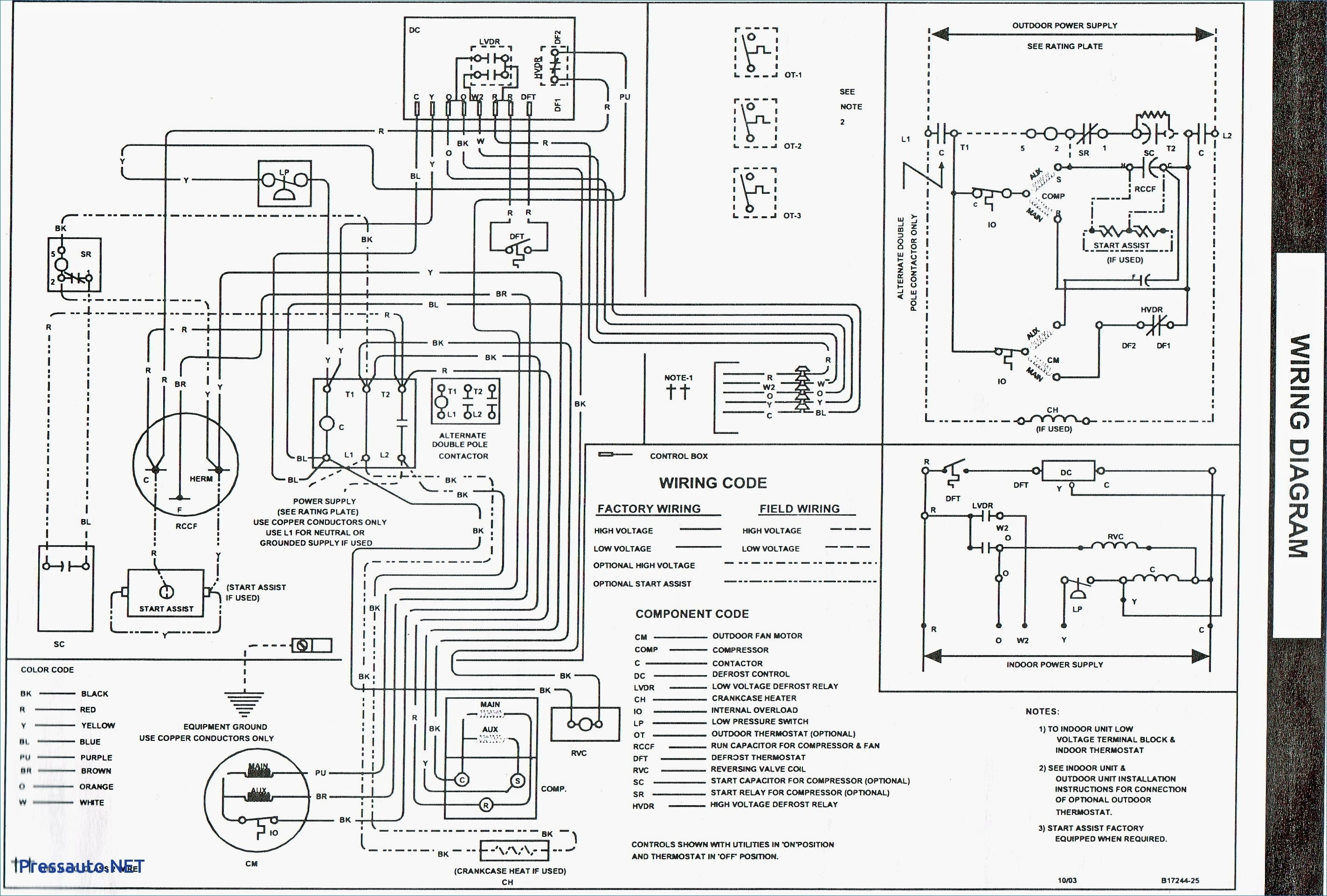 goodman gas furnace thermostat wiring diagram