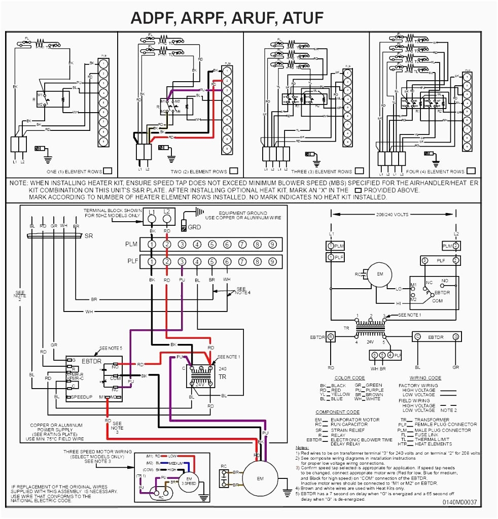 hvac thermostat wiring schematic