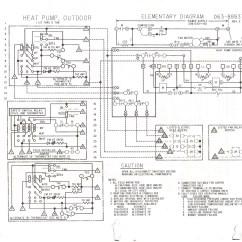 Heat Pump Air Handler Diagram Honeywell Thermostat Rth2300b1038 Wiring Goodman Free