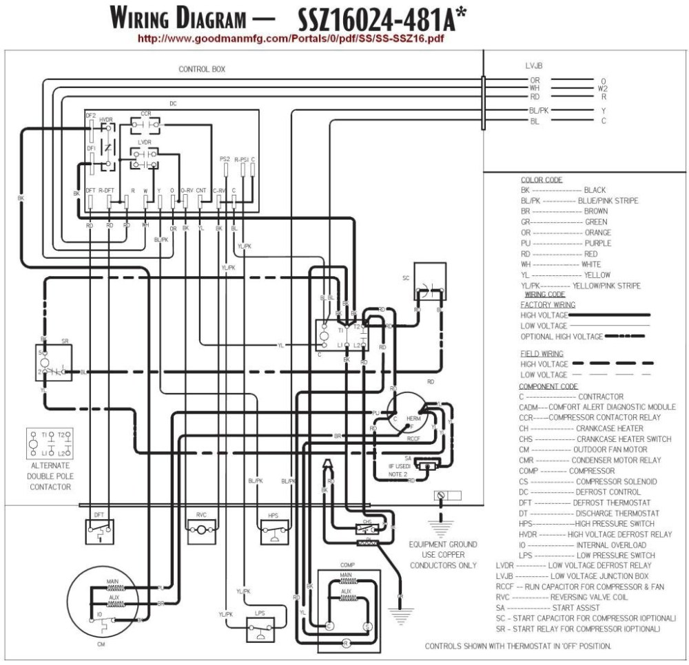 medium resolution of goodman air handler to heat pump wiring diagram wiring diagrams lux thermostat wiring heat pump goodman