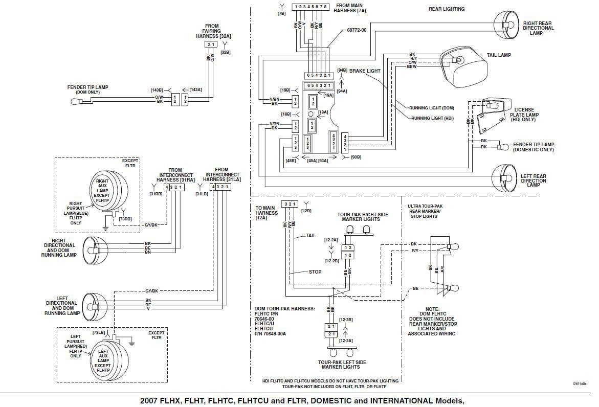 hight resolution of harley davidson tail light wiring diagram