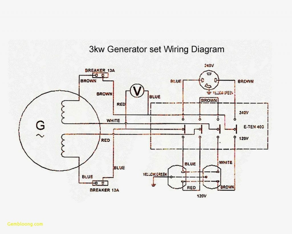 Wiring Diagram For Generator And Voltage Regulator