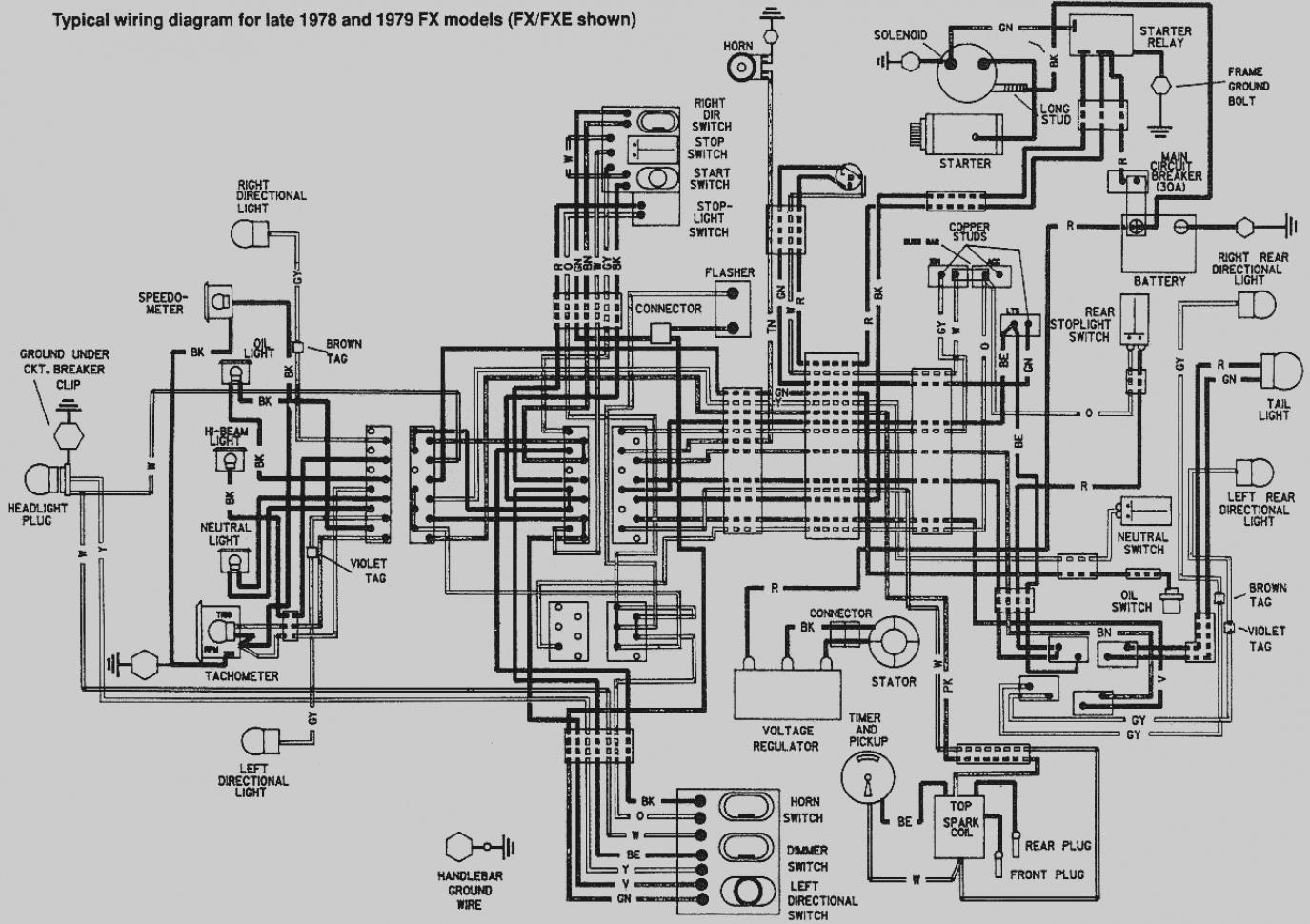 harley davidson big twin diagram wiring diagram