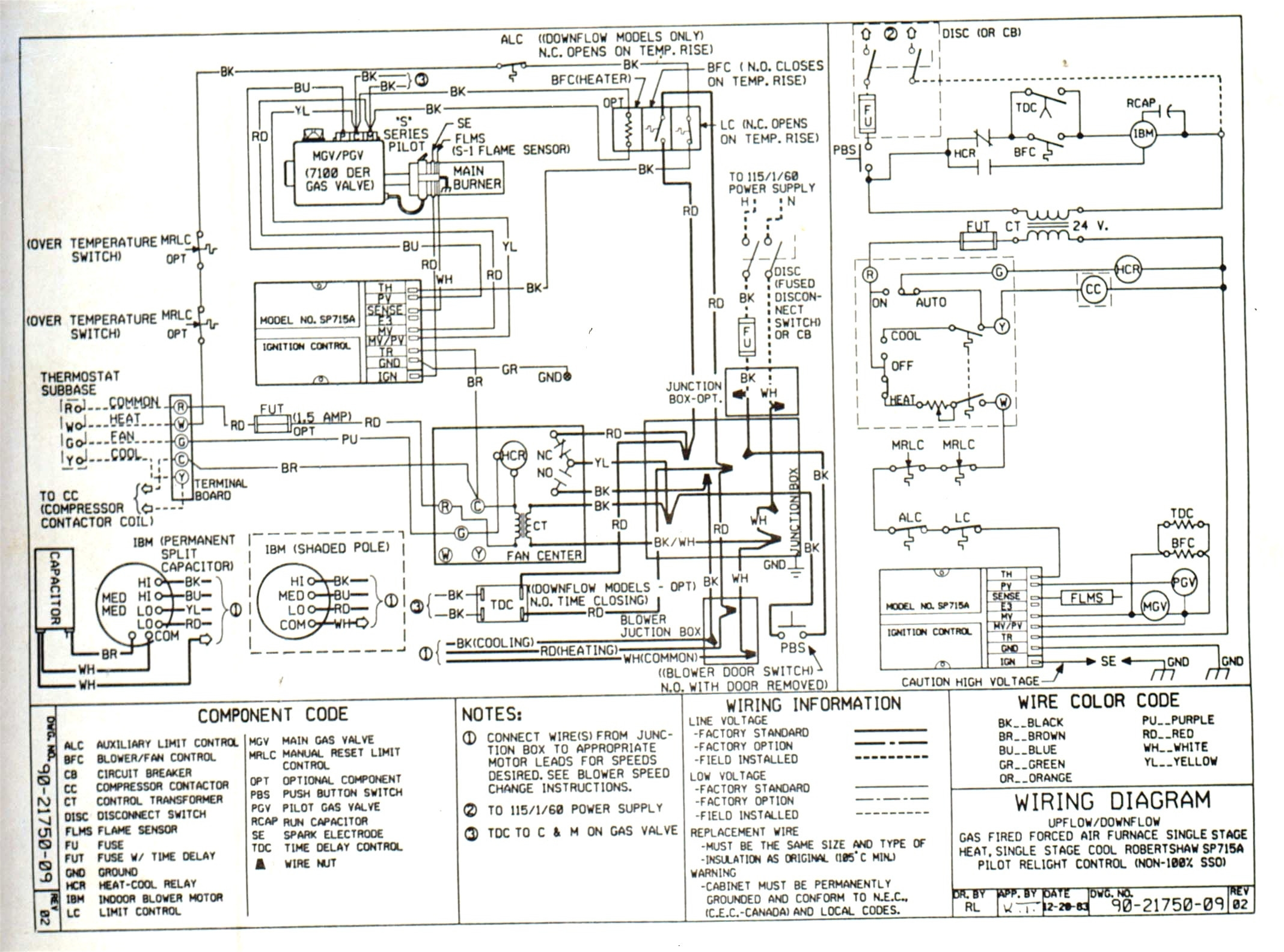 Luxaire Wiring Diagrams