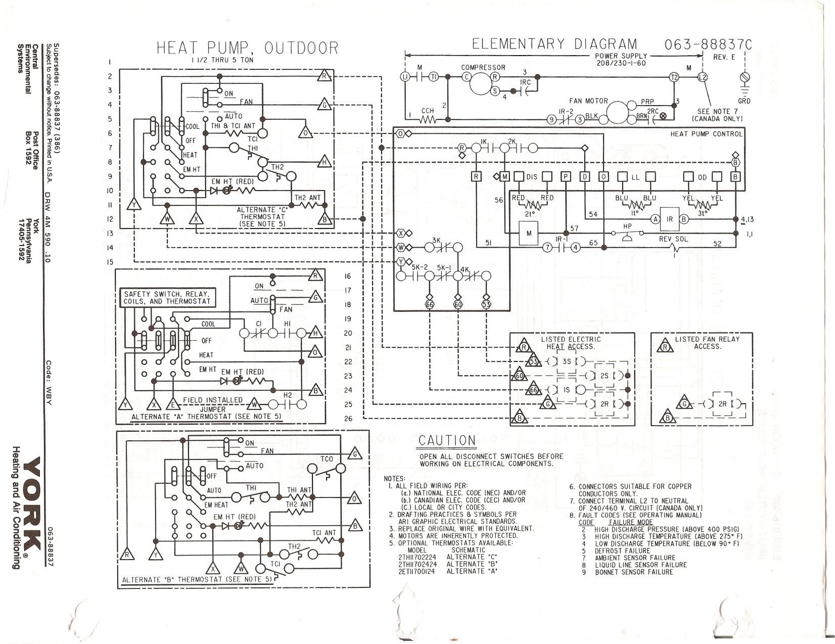 heil 5000 wiring diagram turn signal relay heat pump simple