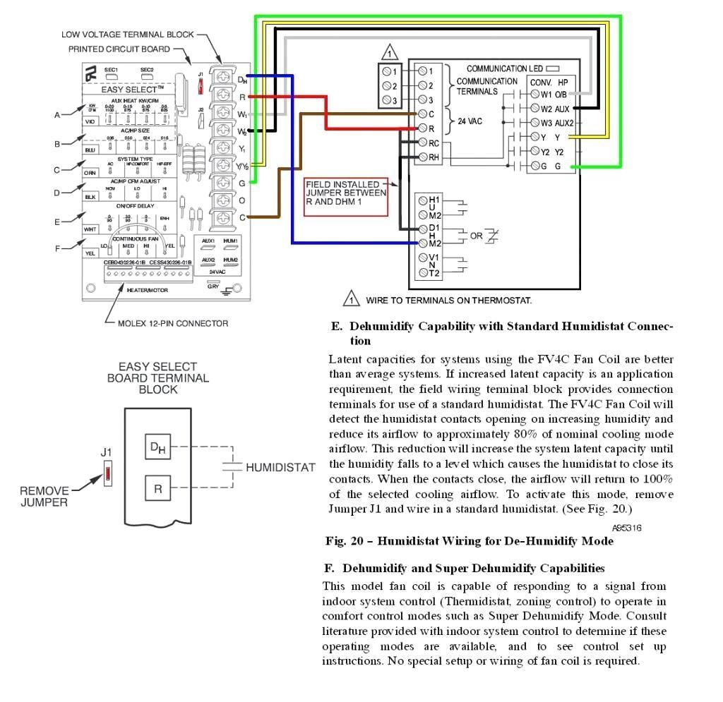 trane humidistat wiring diagram