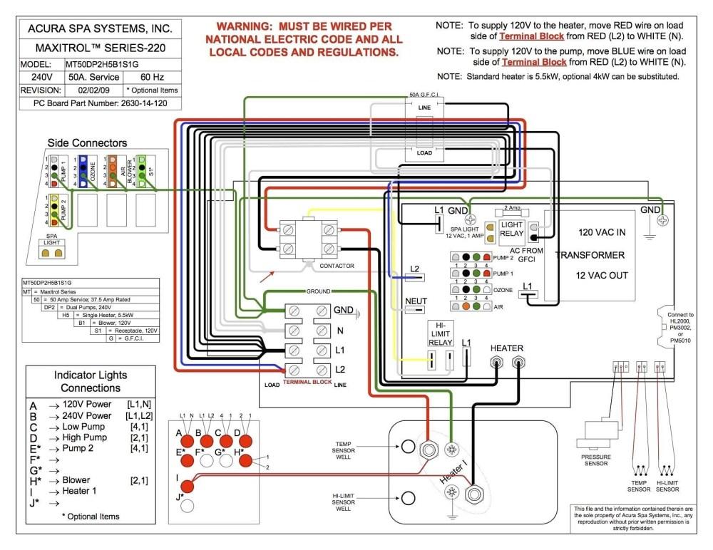 medium resolution of hot springs hot tub wiring diagram