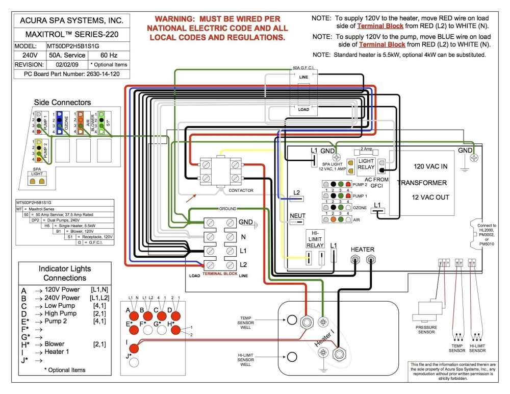 medium resolution of hot tub wiring diagram