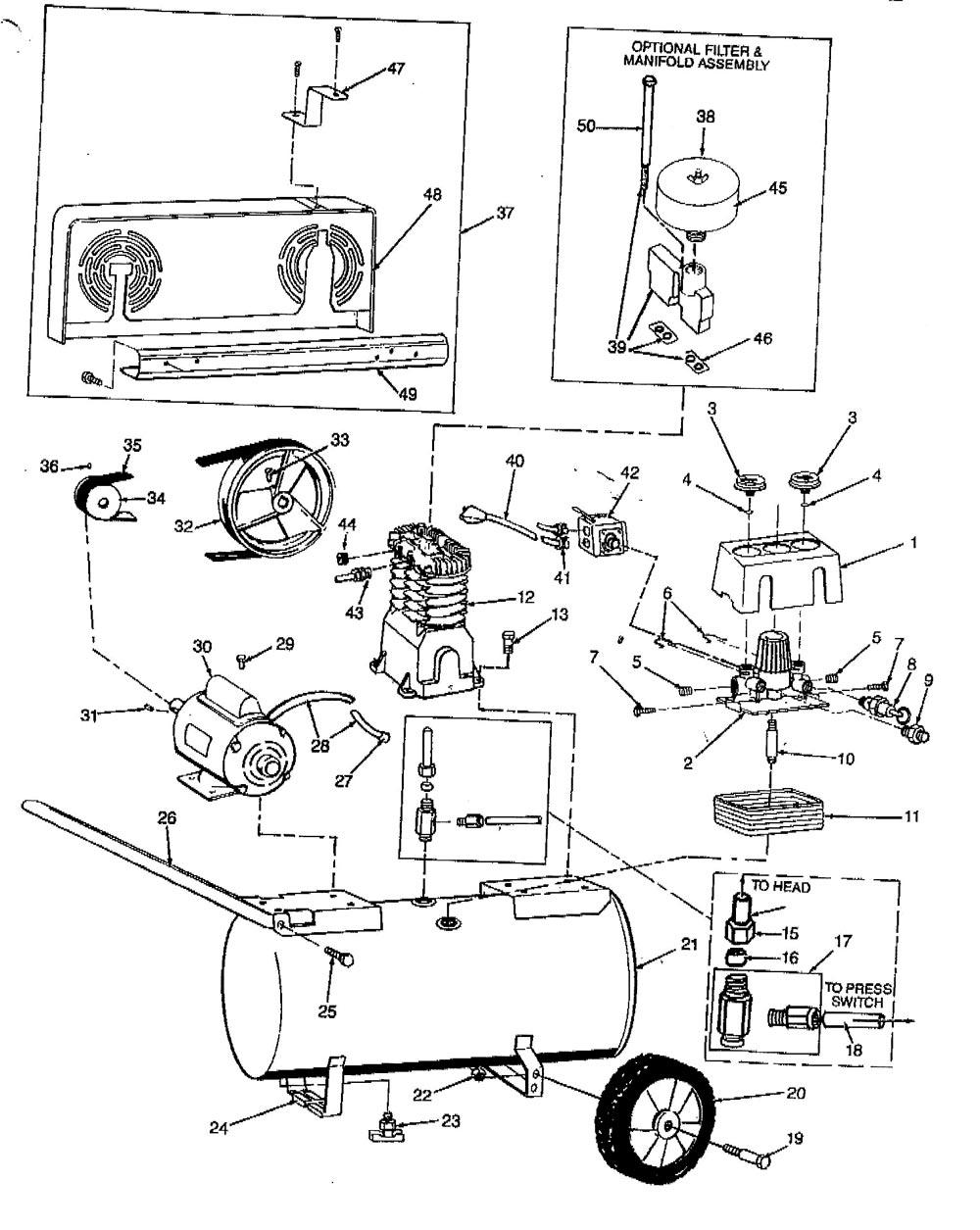air pressor wiring diagram