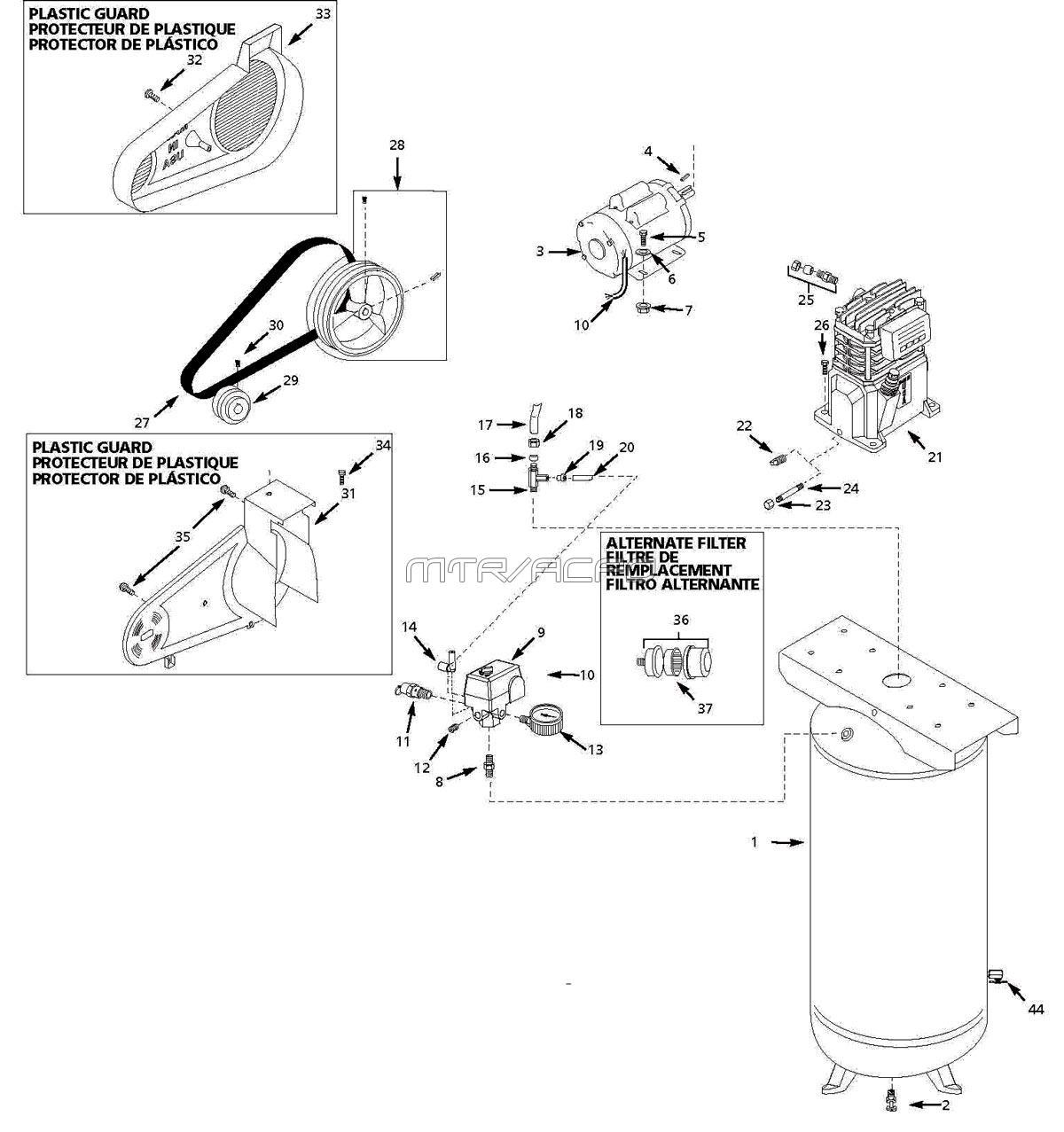 husky compressor wiring diagram