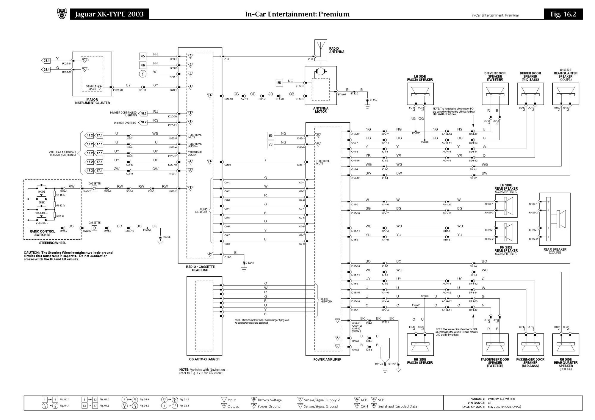 hight resolution of 1996 jaguar xj6 stereo wiring diagram wiring diagrams img fender wiring diagrams 1989 jaguar xjs alternator