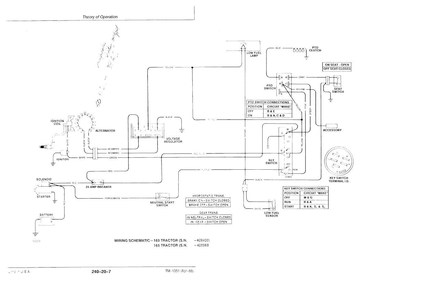 John Deere Lt155 Wiring Schematic John Deere L110 Wiring Schematic Free Wiring Diagram