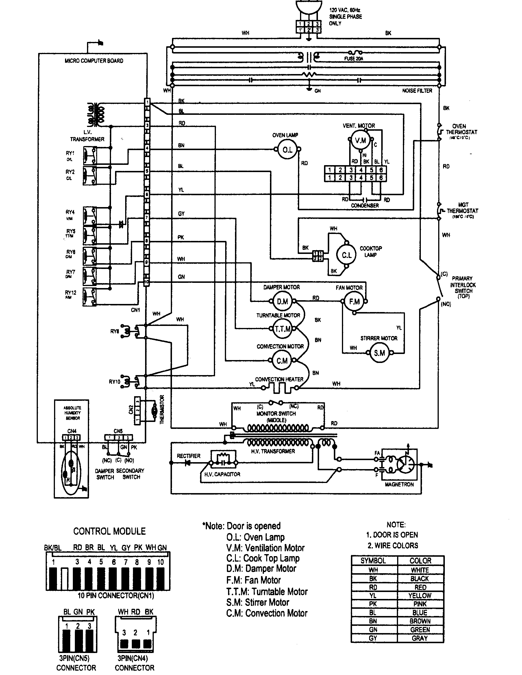 Samsung Electric Range Wiring Diagram