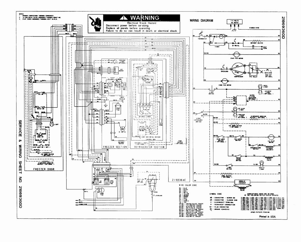 wiring diagram for kenmore refrigerator