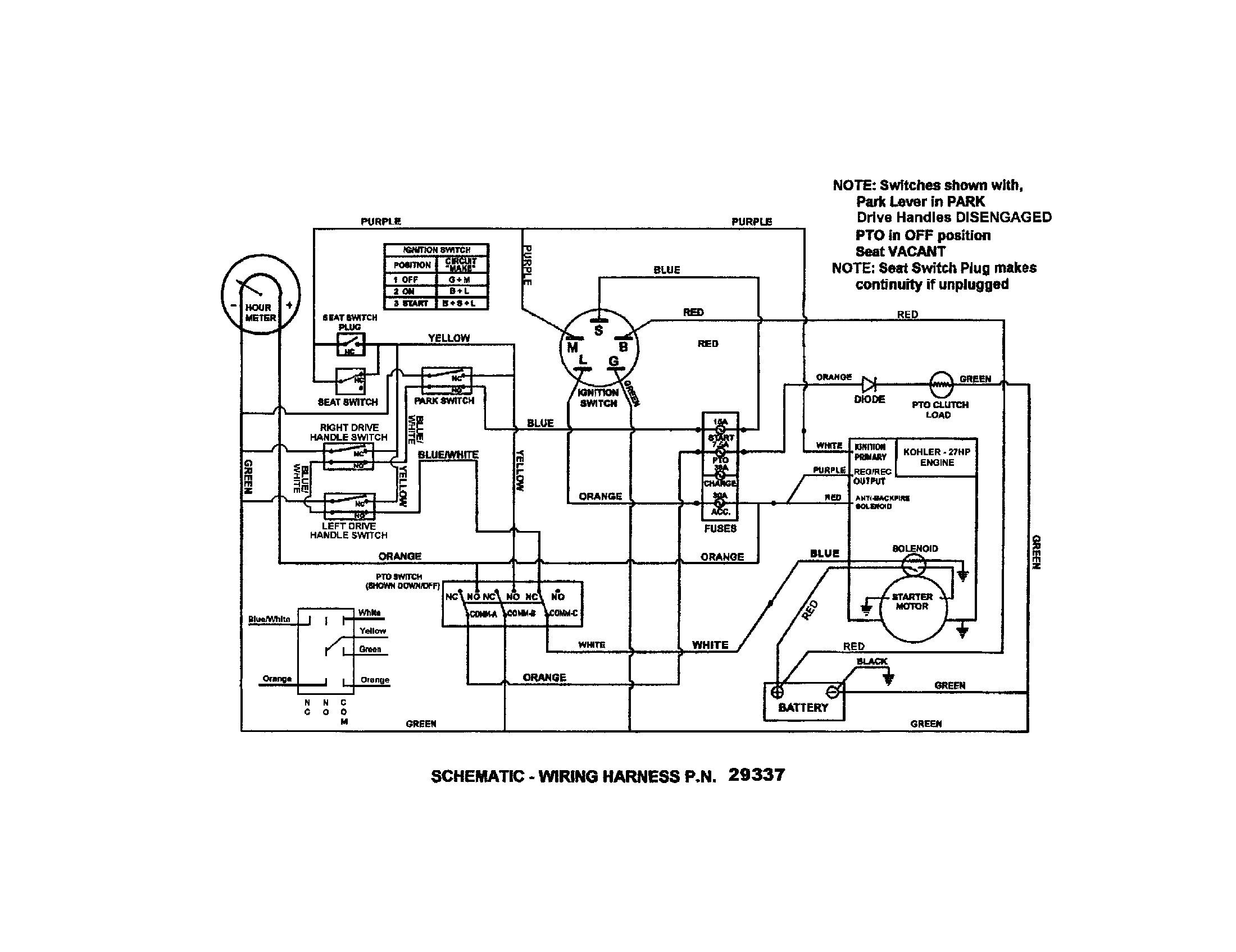 Kohler Ignition Switch Wiring Diagram