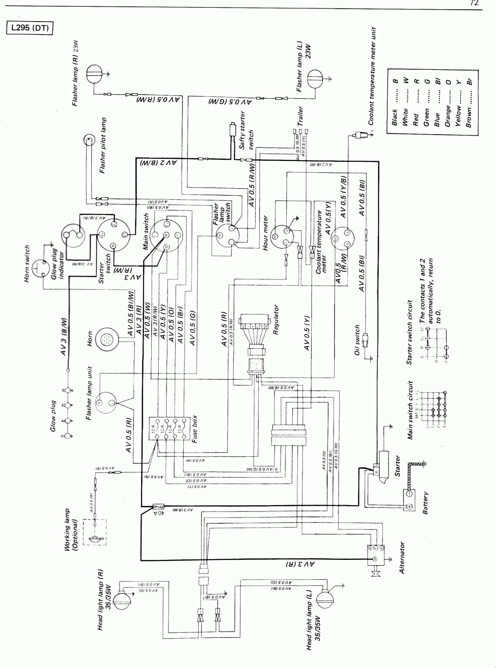Kubota Diesel Ignition Switch Wiring Diagram