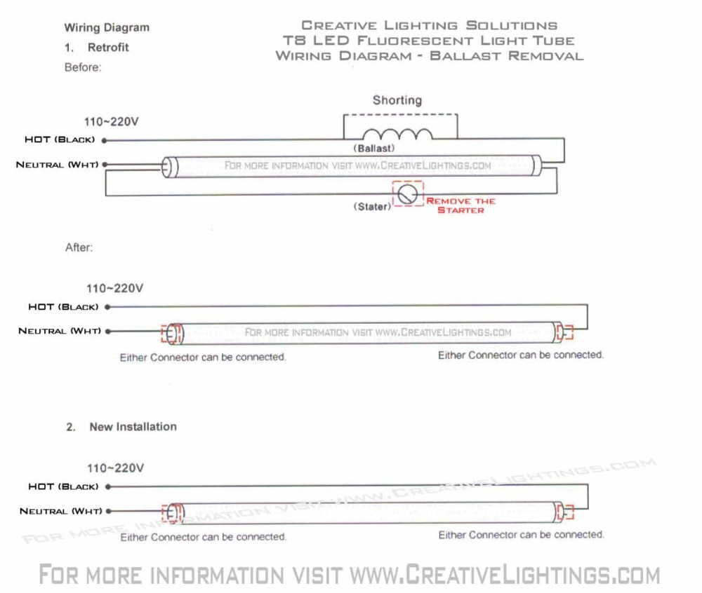 medium resolution of led fluorescent tube wiring diagram