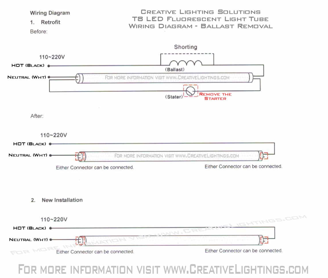 hight resolution of led fluorescent tube wiring diagram