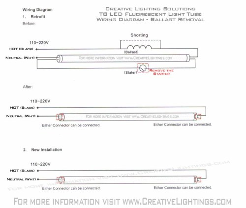 small resolution of led fluorescent tube wiring diagram