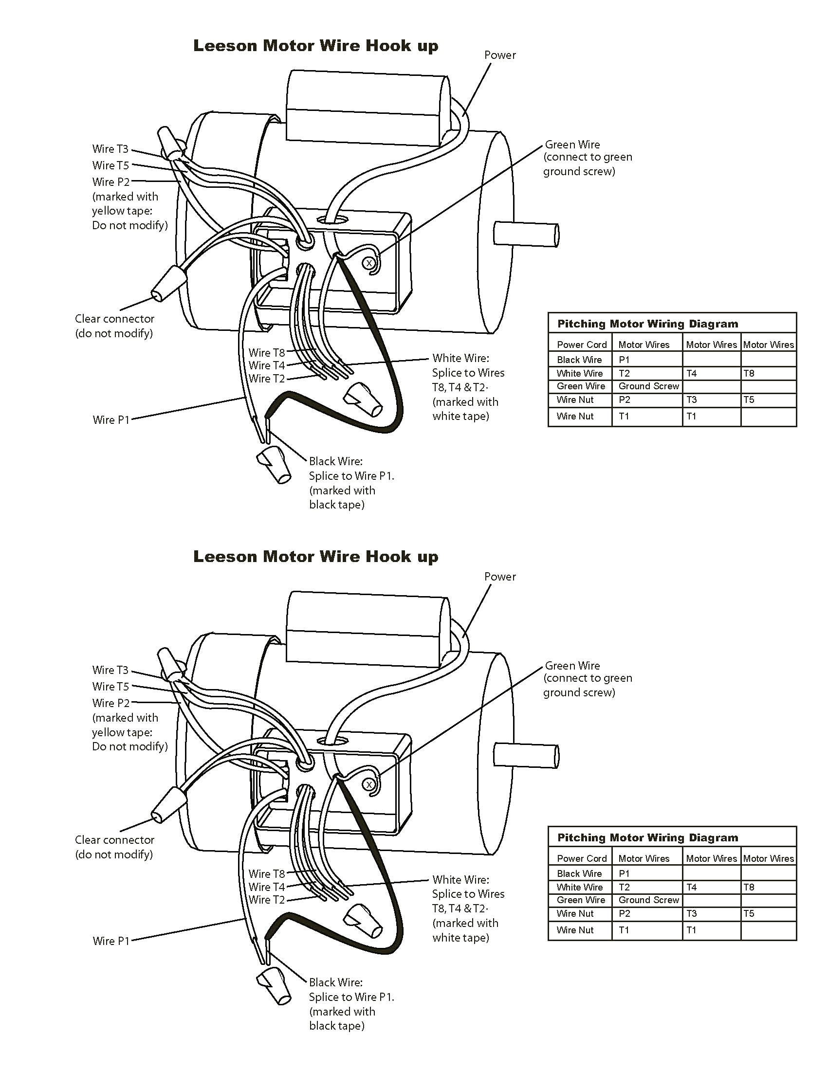 leeson electric motors wiring diagram