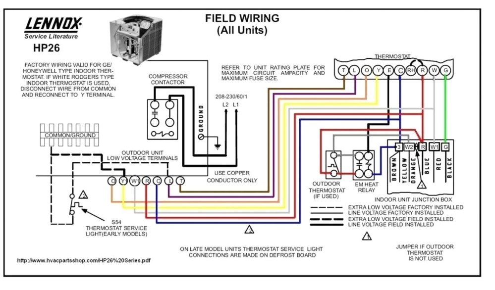 medium resolution of heat pump thermostat wiring color code likewise lennox furnace nordyne heat pump wiring diagram