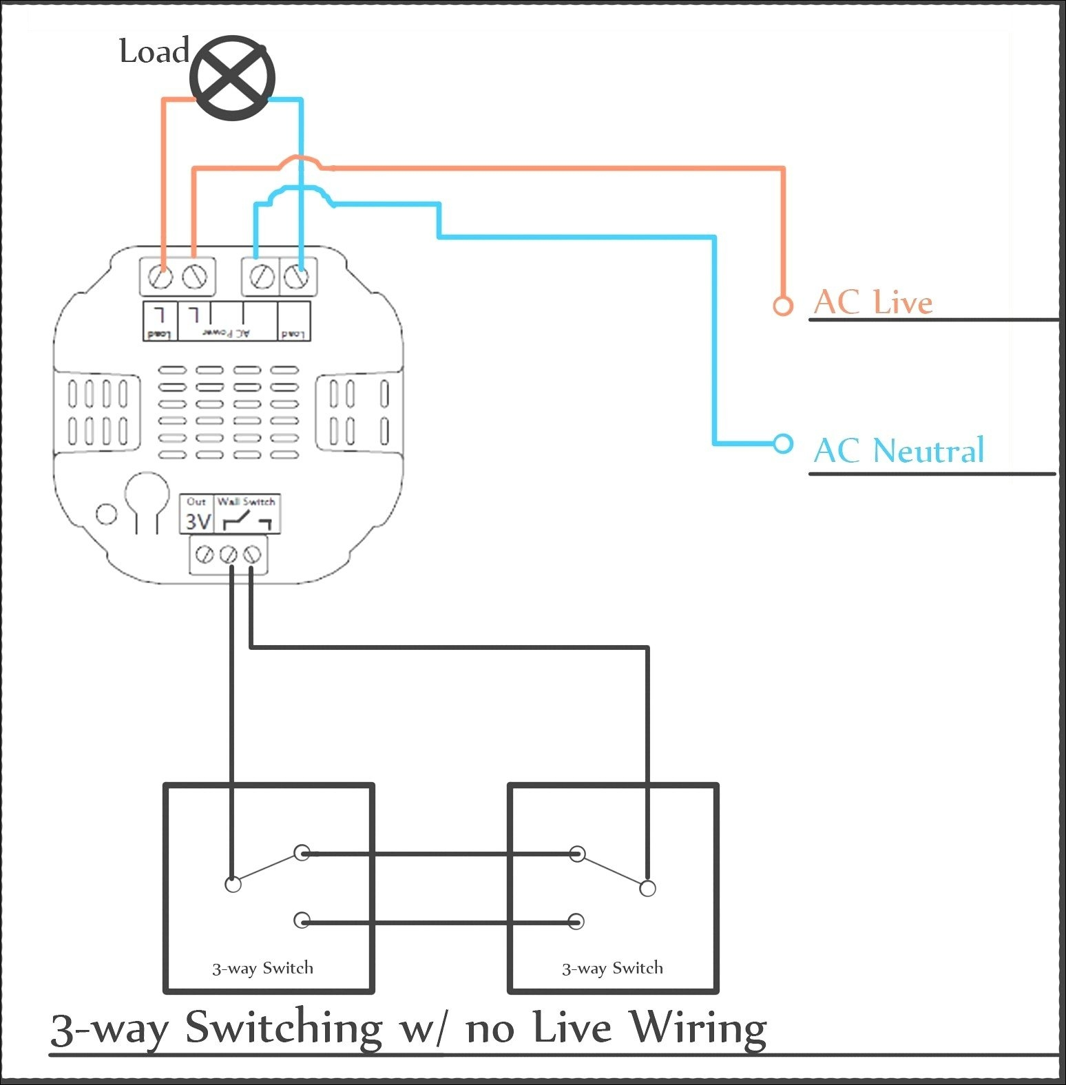 3 Way Switch Wiring Diagram 2 Wire