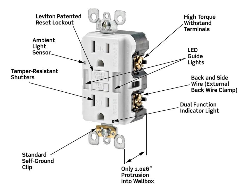 medium resolution of leviton gfci receptacle wiring diagram leviton gfci wiring diagram harness 13g