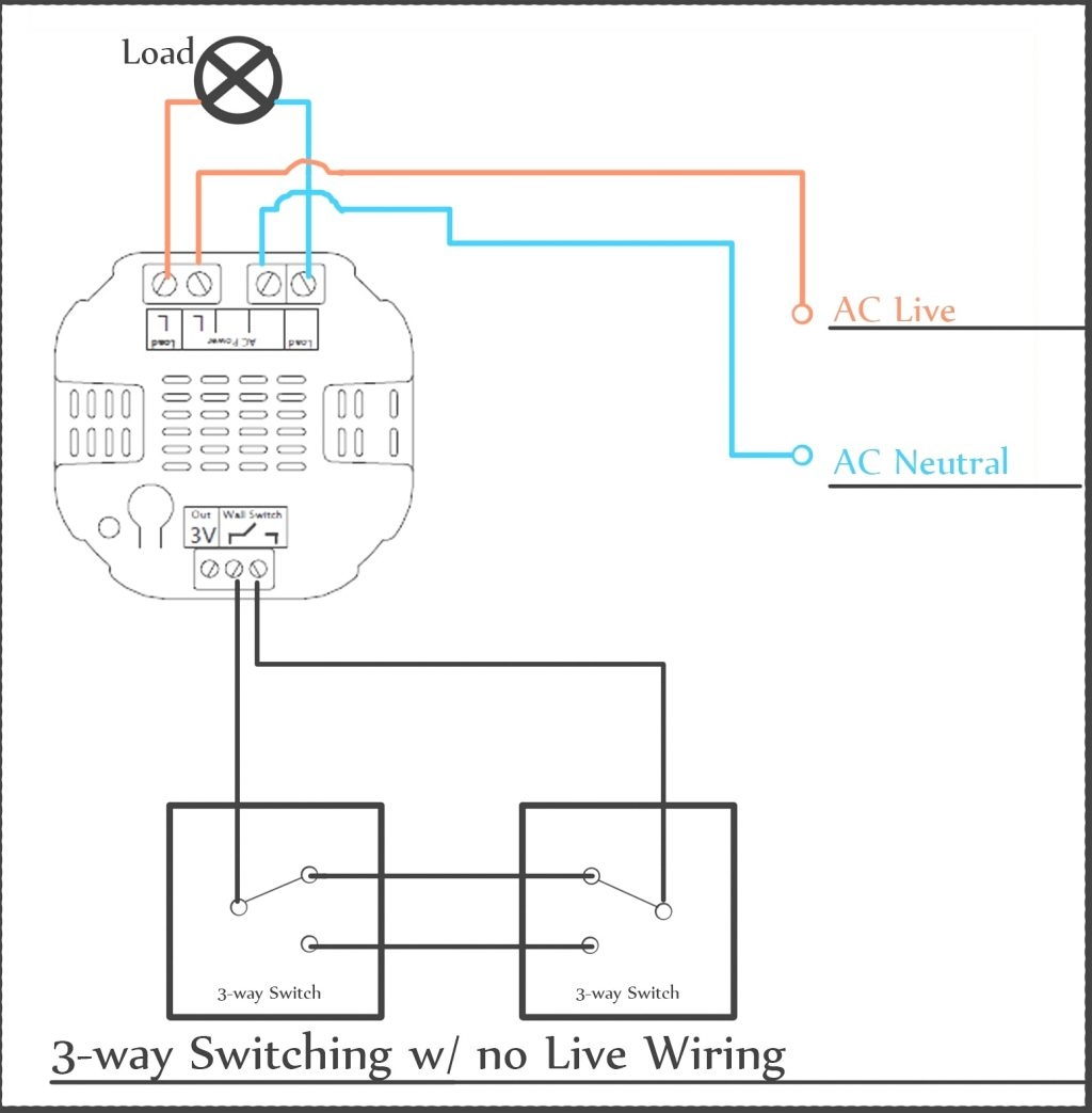 diagram to wire a 3 way switch with dimmer