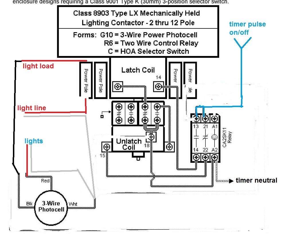 hight resolution of lighting contactor wiring diagram