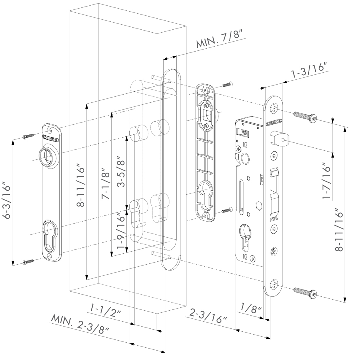 hight resolution of locknetics maglock wiring diagram locinox h metal wb mortise lock for ornamental gates fits welding
