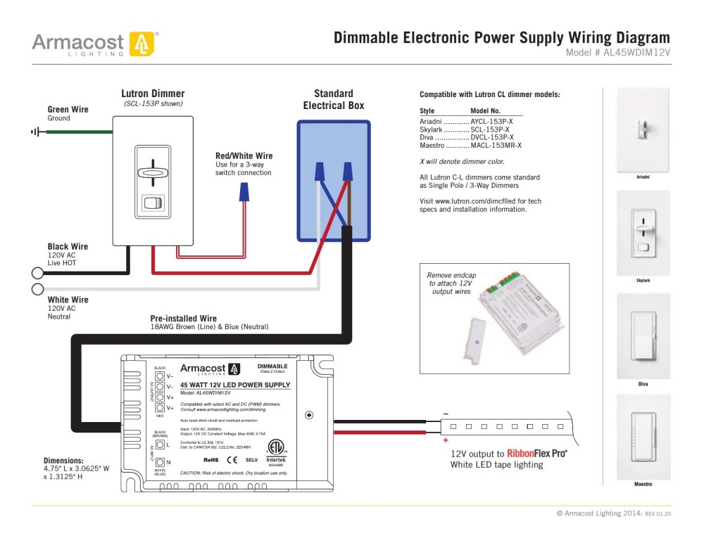 medium resolution of lutron single pole dimmer switch wiring diagram